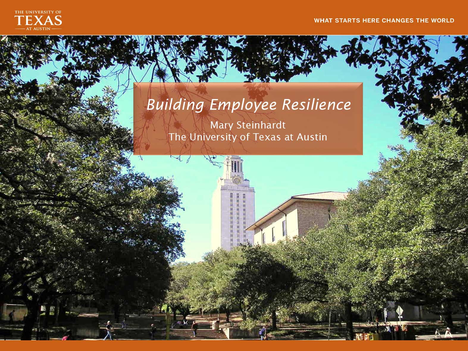 Building Employee Resilience