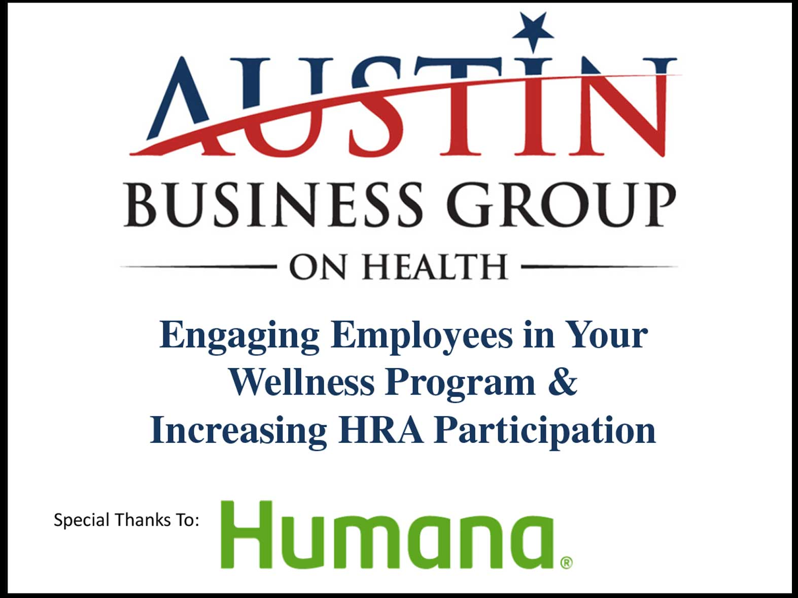 Engaging Employees in Your Wellness Program & Increasing HRA Participation