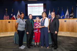 Pflugerville Independent School District receiving their 2018 Healthiest Workplace award