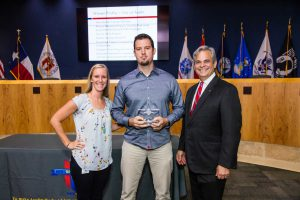 City of Austin receiving their 2018 Healthiest Workplace award