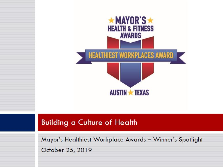 Winner's Spotlight - Building a Culture of Health