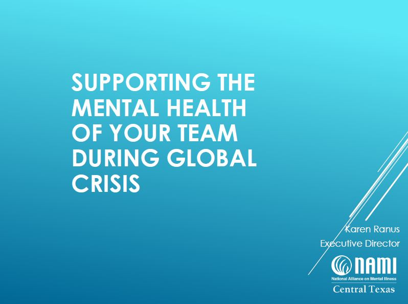 Supporting the Mental Health of your Team During Global Crisis